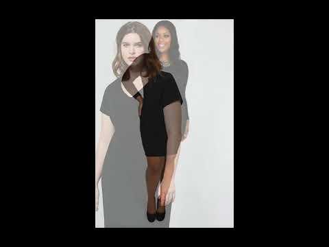Черное платье-футляр для полных