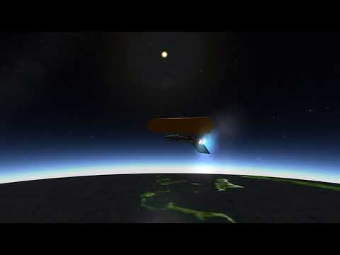 KSP RO: Unmanned Spaceplane launch