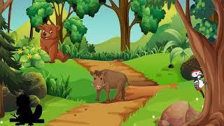 🐗Leśne zwierzęta dla dzieci - odgłosy zwierząt