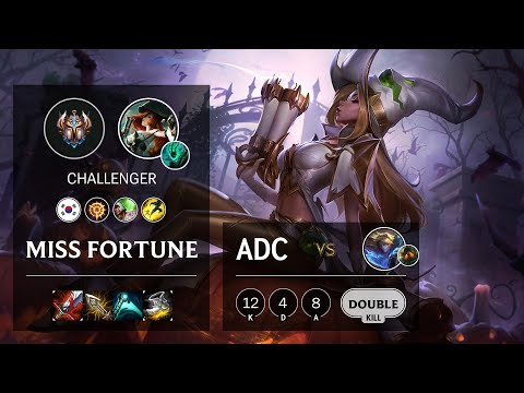 Miss Fortune ADC vs Ezreal - KR Challenger Patch 10.18