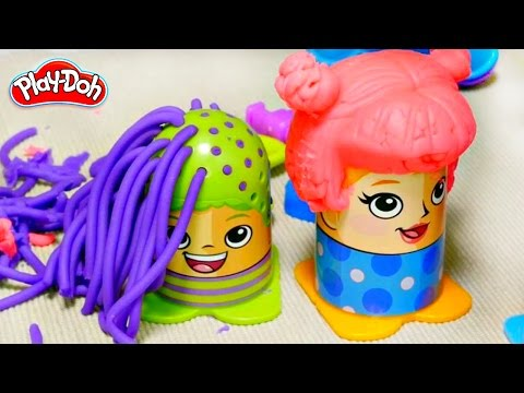 Play Doh hair salon. Videos for kids.