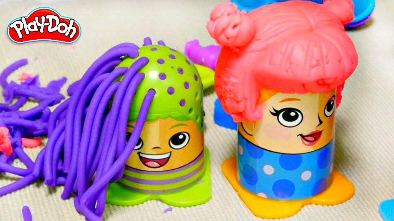 Play Doh Hair Salon Videos For Kids Youtube