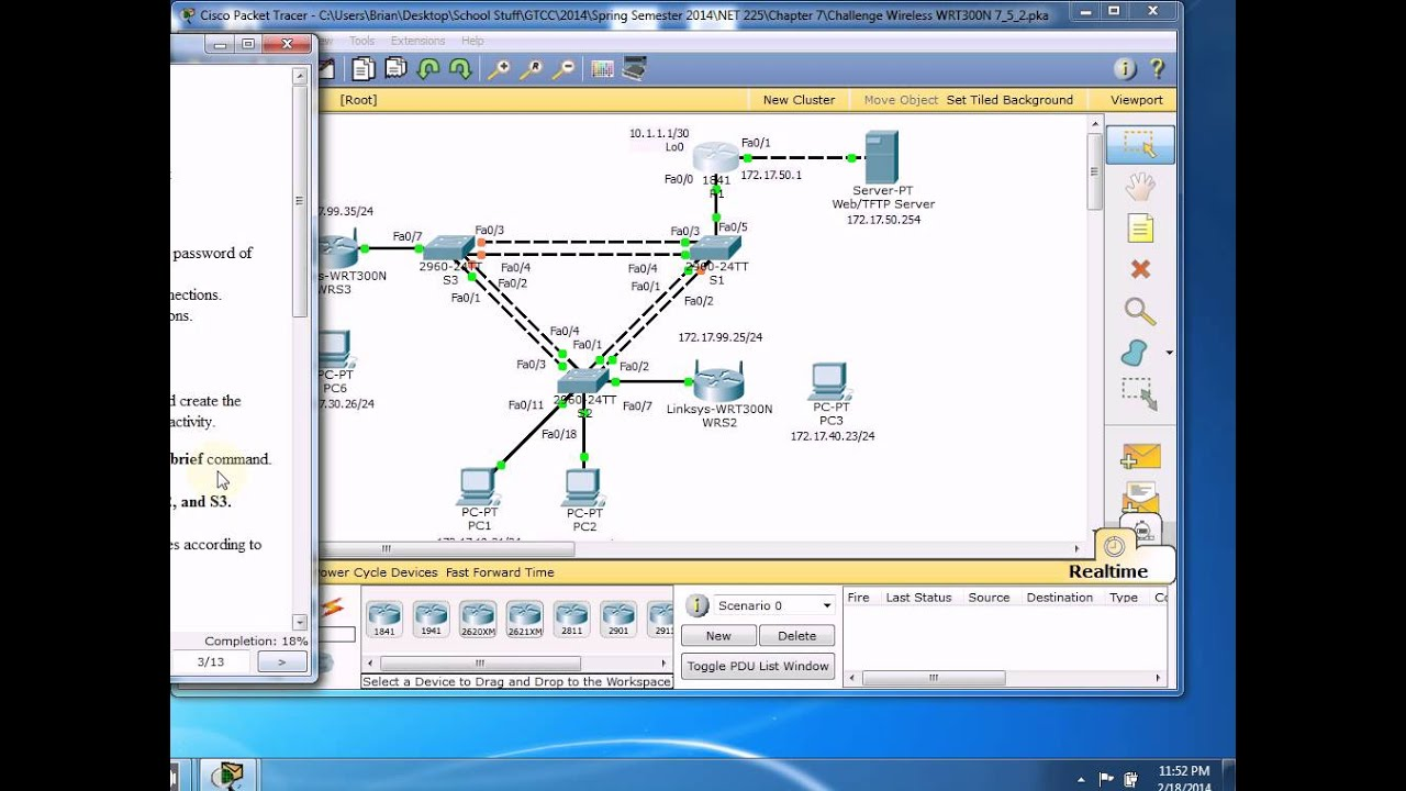 how to cancel translating in packet tracer