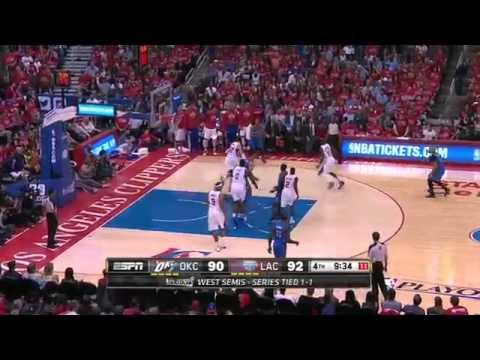 Oklahoma Thunder vs LA Clippers Game 3 Highlights   NBA Playoffs 2014