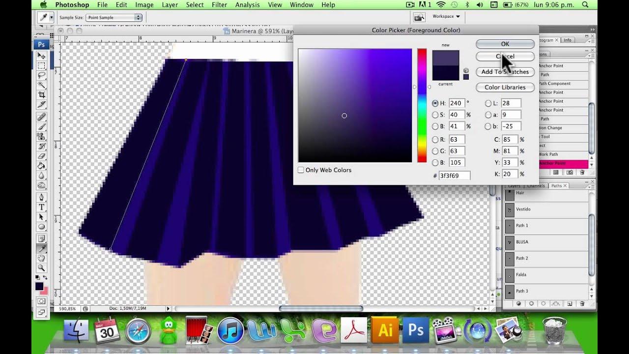 Dibujar ropa sencilla con Photoshop 22  YouTube