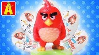Распаковка КИНДЕР СЮРПРИЗОВ: прикольные игрушки Angry Birds!
