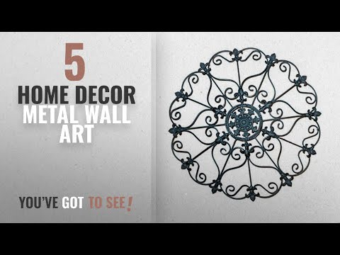 Top 10 Home Decor Metal Wall Art [2018 ]: Iron Wall Medallion - Authentic Wall Decor