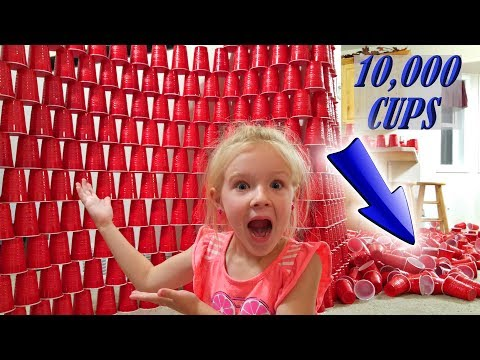 EPIC 10,000 Red Solo Cups Prank on Mom! Nerf Fort Battle!