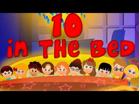 Ten in The Bed | Nursery Rhymes | Counting Song | Baby Rhymes