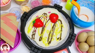 เปิดร้านเครปญี่ปุ่น  ของเล่นผักผลไม้หั่นได้ แป้งโดว์ Kitchen Cooking Food Toys Play