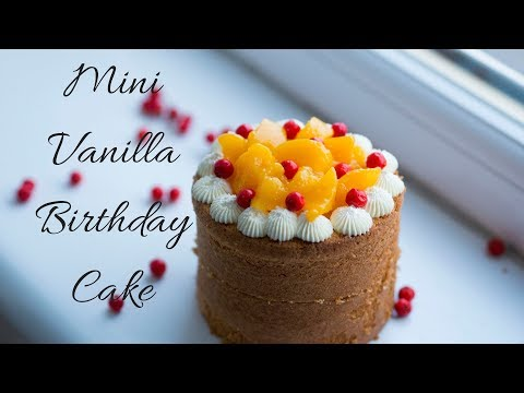 Mini Vanilla Birthday Cake Tutorial|Mini Fruit Cake Recipe