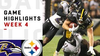 Ravens vs. Steelers Week 4 Highlights | NFL 2018