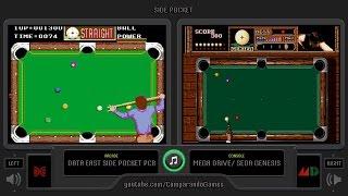 Side Pocket (Arcade vs Sega Genesis) Side by Side Comparison
