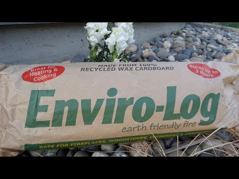 Enviro-Log Firelog Review with Time Lapse