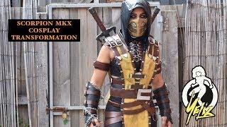 MORTAL KOMBAT | MKX Scorpion Cosplay Transformation | JUST YELIZ