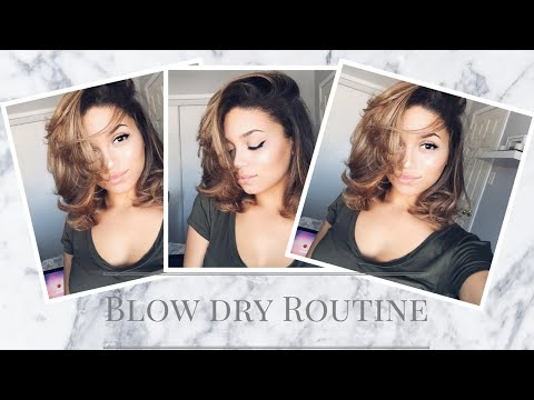 How to Blow Dry Short/Curly Hair | Ashley Bloomfield