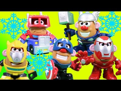 Mr. Potato Head Mixable Mashable Transformers And Marvel Heroes Magic Snow Surprise! Part 1
