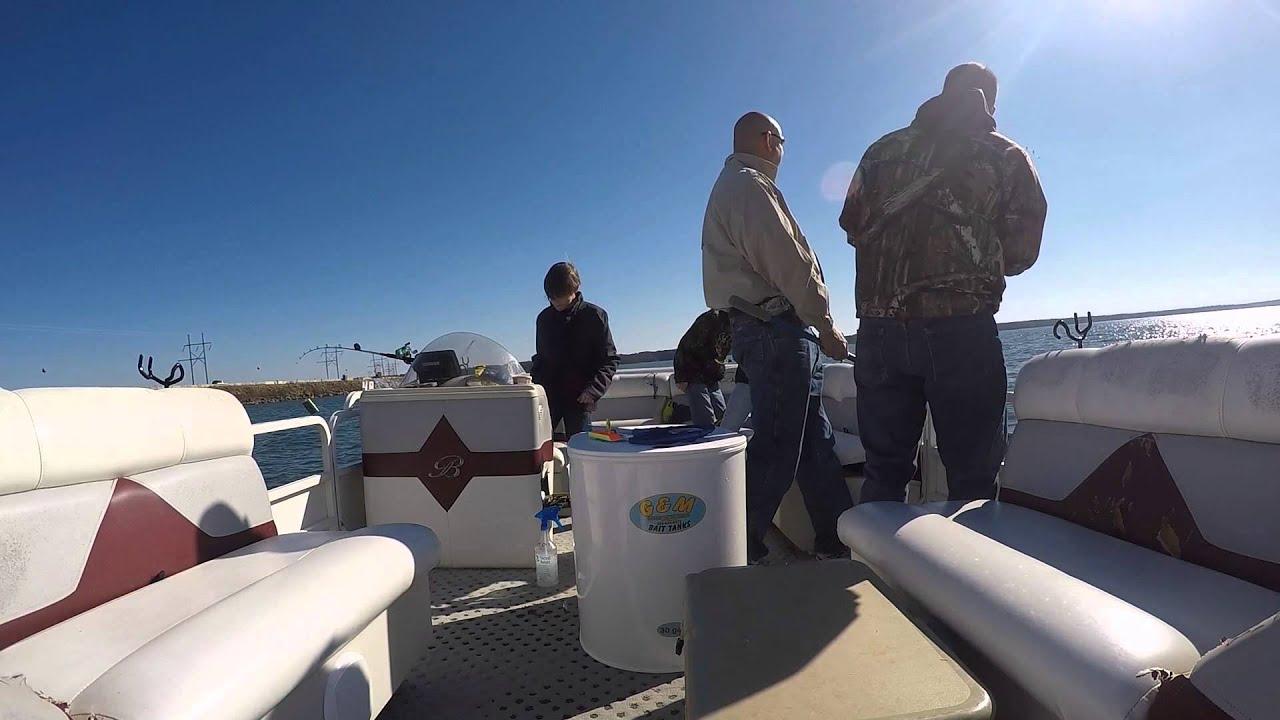 Striper fishing clarks hill youtube for Clarks hill lake fishing report