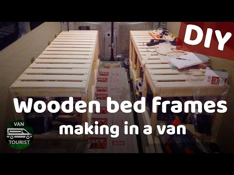 Building a campervan bed frame for van conversion camping motorhome DIY project