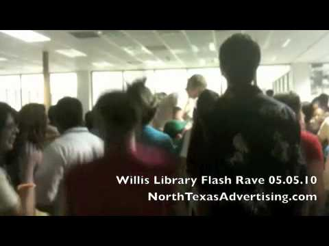 UNT Flash Mob Rave at Willis Library [Part 2 of 2]