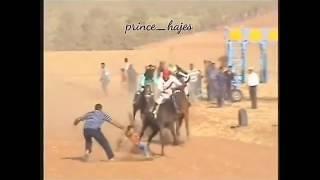 مواطن ينقذ طفل من براثن حصان في سباق بالجوف