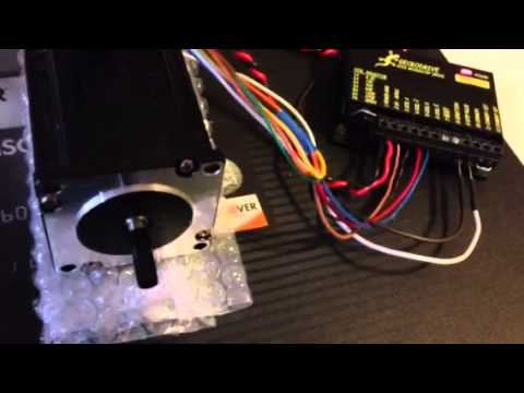 Gecko 202 Stepper Motor Test Youtube