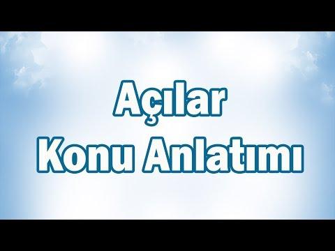 AÇILAR-1 Konu Anlatımı | 6.Sınıf Matematik