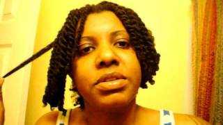 Two Strand Twist on Wet Hair (pt 1)