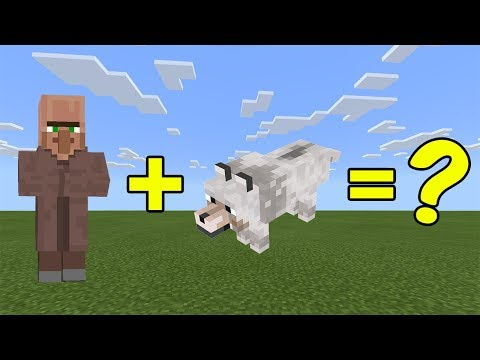 I Combined A Villager And A Wolf In Minecraft - Here's What Happened...