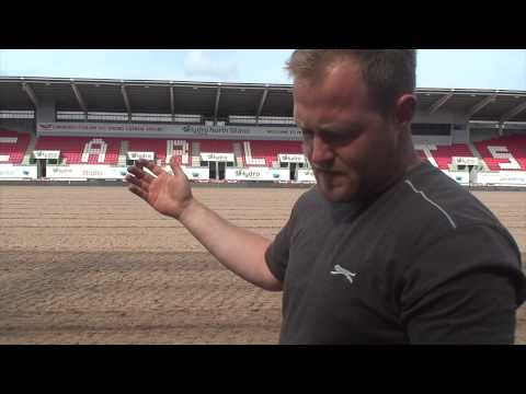 Pitch renovations at Parc y Scarlets