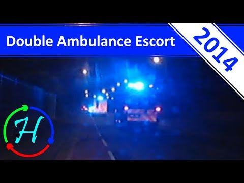 Double Ambulance Police Escort In Edinburgh - 18.6.2014