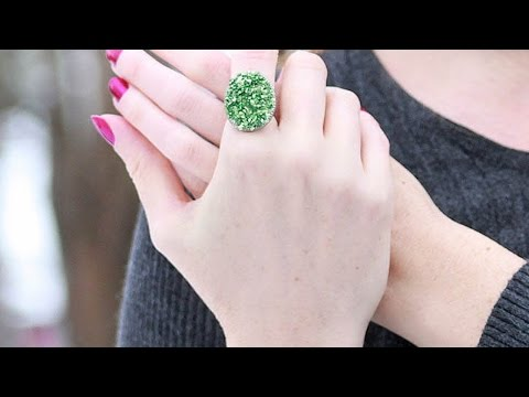 How To Create a Glam Faux Druzy Cocktail Ring - DIY Style Tutorial - Guidecentral