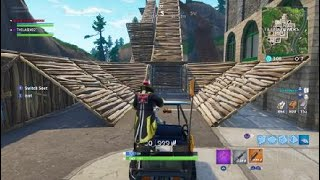 Fortnite - Driving a Golf Buggy Through a Trap Tunnel