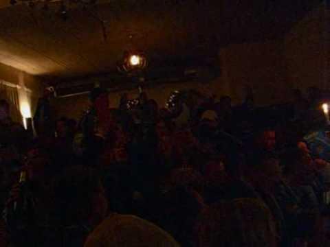 """Schwenningen-Dresden, 28.12.2008, Sonderzug, BahnhofOst-Cafe, """"After-Game-Party"""""""