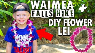 Kids Make Hawaiian Flower Leis + Waterfall Visit