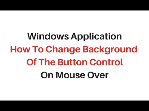 winforms how to change button color on Mouse Hover c# 4 6 - YouTube