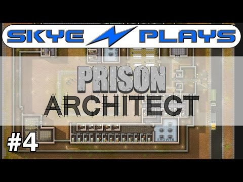 Prison Architect Part 4 ►Kitchen, Canteen, Yard and Common Room◀ Gameplay/Tutorial (Alpha 34/35)