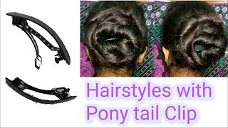 BUN WITH ~HORSE TAIL CLIP~ || PERFECT BUN FOR COLLEGE & OFFICE | Stylopedia
