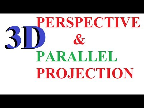 3D Projection in Computer Graphics | Parallel Projection & perspective projection