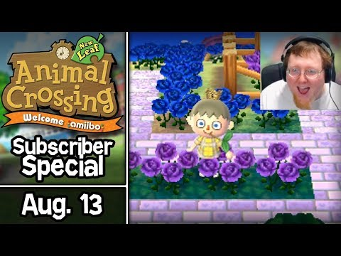 Animal Crossing: New Leaf, Subscriber Special #9 • August 13 • Visiting Twitch Subscriber Towns!