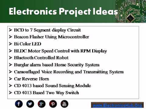 Electronics Projects Ideas for Engineering Students - YouTube