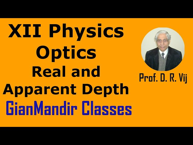 XII Physics | Optics | Real and Apparent Depth by Poonam Ma'am