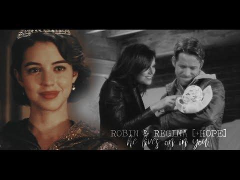 "Robin & Regina [+Hope] - ""He lives on in you"" [AU]"