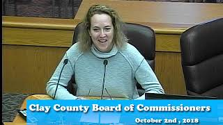 B181002A -10/02/18 - Clay County MN Board of Commissioners