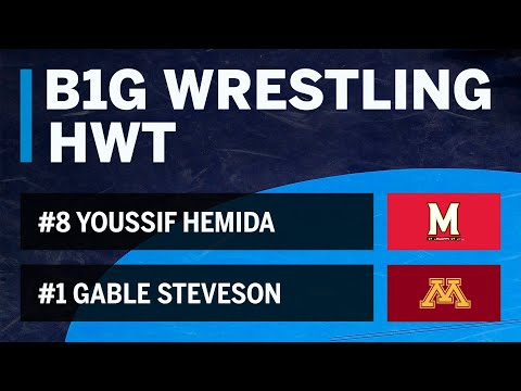 HWT: #8 Youssif Hemida (Maryland) vs. #1 Gable Steveson (Minnesota) | Big Ten Wrestling