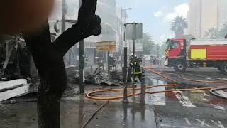 Incendie rue Frebault à Pointe à Pitre ce dimanche matin à 8h30