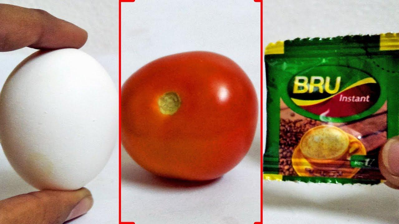 Life Time Skin Whitening Beauty Tips Instant W/ EGGS BRU Coffee Tomato- Best Face Packs Tricks Hacks