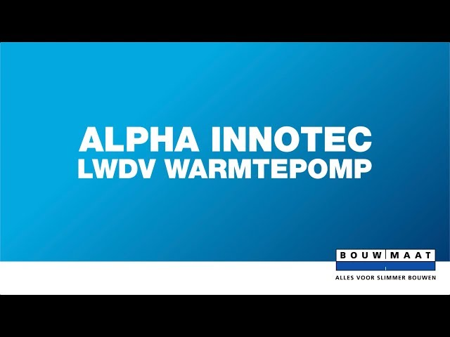 De alpha innotec warmtepomp van Nathan