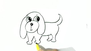 dog draw easy drawing dogs step cartoon beginners children drawings steps splendiferous paintingvalley