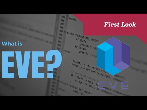 Eve Programming Language Tutorial First Look
